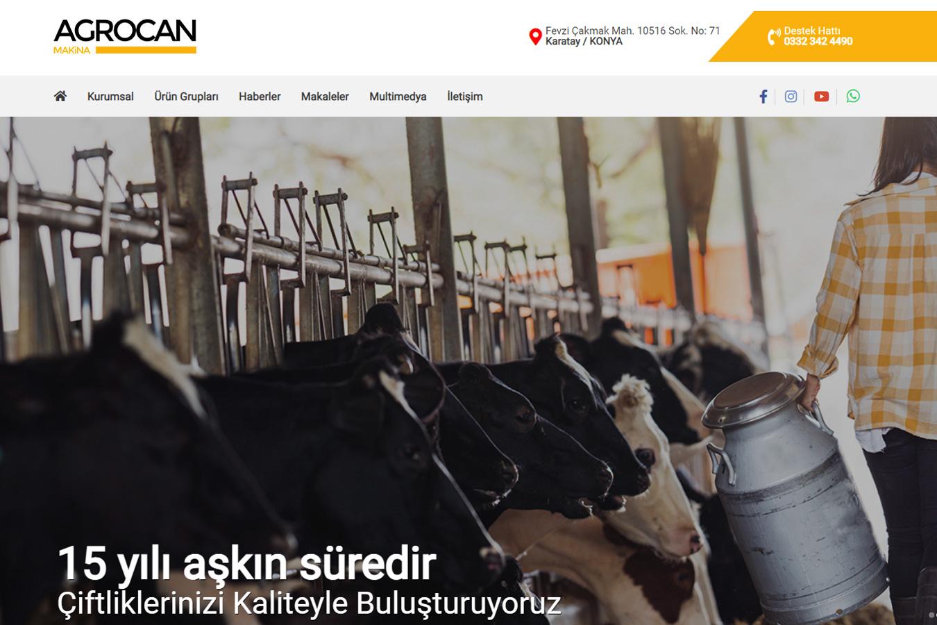Web Sitemizi Yeniledik || Agrocan Makina